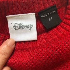 Disney Shirts & Tops - Disney Mickey Mouse Red Sweater 3T